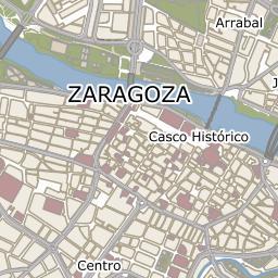 Mapa De Zaragoza Ciudad.Callejero Ayuntamiento De Zaragoza